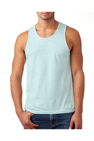 Next Level N6233 Mens CVC Jersey Tank Top Ice Blue Front