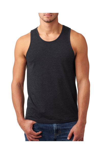 Next Level N6233 Mens CVC Jersey Tank Top Charcoal Grey Front