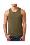 Next Level N6233 Mens CVC Jersey Tank Top Military Green Front