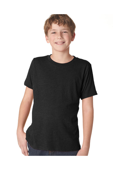 Next Level N6310 Youth Jersey Short Sleeve Crewneck T-Shirt Black Front