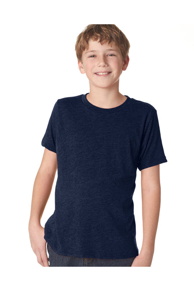 Next Level N6310 Youth Jersey Short Sleeve Crewneck T-Shirt Navy Blue Front