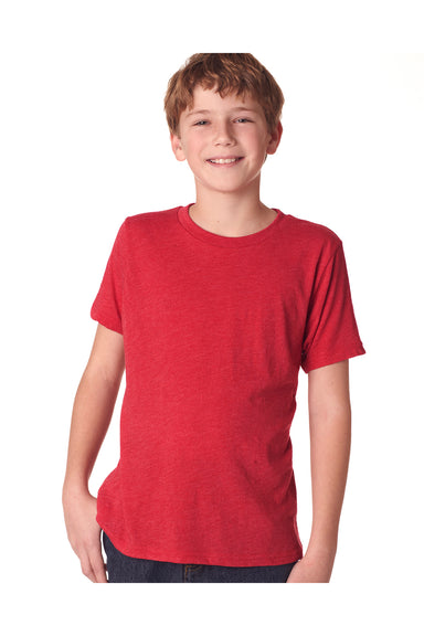 Next Level N6310 Youth Jersey Short Sleeve Crewneck T-Shirt Red Front