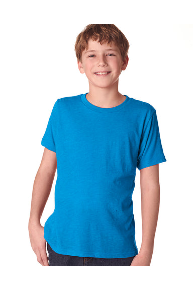Next Level N6310 Youth Jersey Short Sleeve Crewneck T-Shirt Turquoise Blue Front