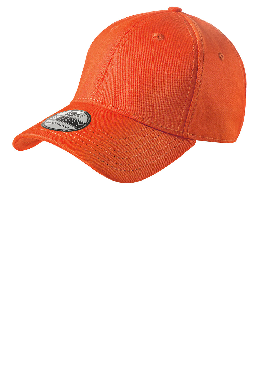 New Era NE1000 Mens Stretch Fit Hat Orange Front
