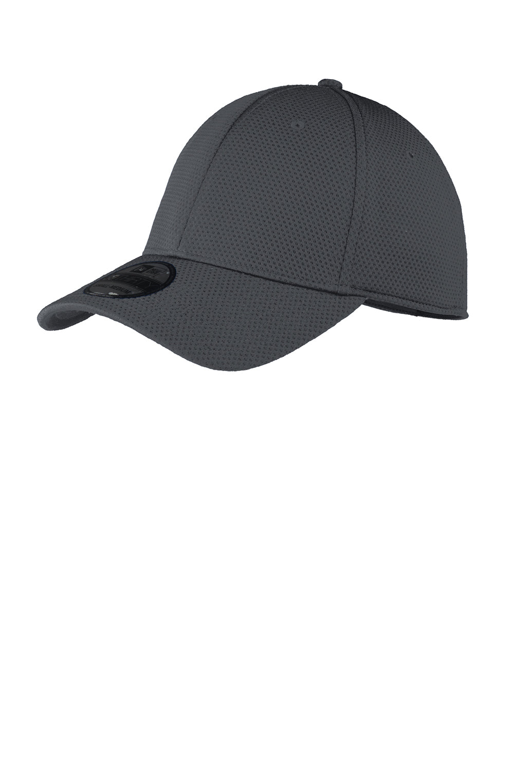New Era NE1090 Mens Moisture Wicking Stretch Fit Hat Charcoal Grey Front