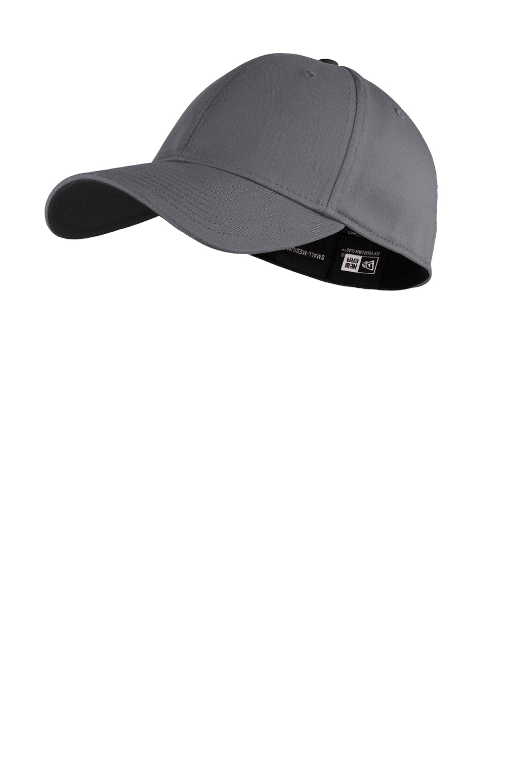 New Era NE1100 Mens Stretch Fit Hat Graphite Grey/Black Front