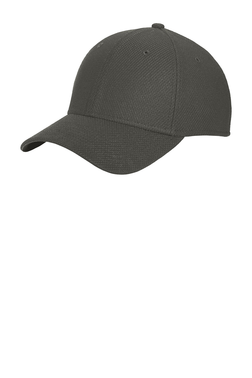 New Era NE1121 Mens Moisture Wicking Stretch Fit Hat Graphite Grey Front