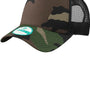 New Era Mens Adjustable Trucker Hat - Camo/Black