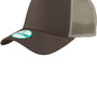 New Era Mens Adjustable Trucker Hat - Chocolate Brown/Khaki