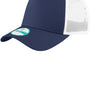 New Era Mens Adjustable Trucker Hat - Navy Blue/White