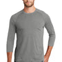 New Era Mens Heritage 3/4 Sleeve Crewneck T-Shirt - Heather Shadow Grey