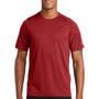 New Era Mens Series Performance Jersey Moisture Wicking Short Sleeve Crewneck T-Shirt - Crimson Red