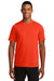 New Era NEA200 Mens Series Performance Jersey Moisture Wicking Short Sleeve Crewneck T-Shirt Orange Front
