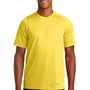 New Era Mens Series Performance Jersey Moisture Wicking Short Sleeve Crewneck T-Shirt - Goldenrod Yellow - Closeout