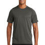 New Era Mens Series Performance Jersey Moisture Wicking Short Sleeve Crewneck T-Shirt - Graphite Grey
