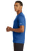 New Era NEA200 Mens Series Performance Jersey Moisture Wicking Short Sleeve Crewneck T-Shirt Royal Blue Side