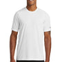 New Era Mens Series Performance Jersey Moisture Wicking Short Sleeve Crewneck T-Shirt - White