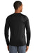 New Era NEA201 Mens Series Performance Moisture Wicking Long Sleeve Crewneck T-Shirt Black Back