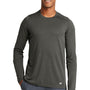 New Era Mens Series Performance Moisture Wicking Long Sleeve Crewneck T-Shirt - Graphite Grey