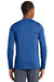 New Era NEA201 Mens Series Performance Moisture Wicking Long Sleeve Crewneck T-Shirt Royal Blue Back