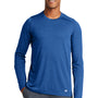 New Era Mens Series Performance Moisture Wicking Long Sleeve Crewneck T-Shirt - Royal Blue