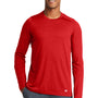 New Era Mens Series Performance Moisture Wicking Long Sleeve Crewneck T-Shirt - Scarlet Red