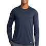 New Era Mens Series Performance Moisture Wicking Long Sleeve Crewneck T-Shirt - Navy Blue