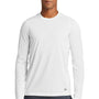 New Era Mens Series Performance Moisture Wicking Long Sleeve Crewneck T-Shirt - White