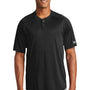 New Era Mens Diamond Era Moisture Wicking Short Sleeve Jersey - Black