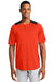 New Era NEA221 Mens Diamond Era Moisture Wicking Short Sleeve Jersey Orange/Black Front