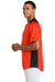 New Era NEA221 Mens Diamond Era Moisture Wicking Short Sleeve Jersey Orange/Black Side