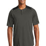 New Era Mens Diamond Era Moisture Wicking Short Sleeve Jersey - Graphite Grey/Black