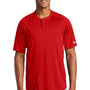 New Era Mens Diamond Era Moisture Wicking Short Sleeve Jersey - Scarlet Red