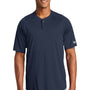 New Era Mens Diamond Era Moisture Wicking Short Sleeve Jersey - Navy Blue
