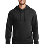 New Era Mens Sueded French Terry Hooded Sweatshirt Hoodie - Black