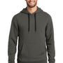 New Era Mens Sueded French Terry Hooded Sweatshirt Hoodie - Graphite Grey