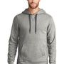 New Era Mens Sueded French Terry Hooded Sweatshirt Hoodie - Light Graphite Grey Twist
