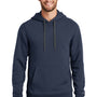 New Era Mens Sueded French Terry Hooded Sweatshirt Hoodie - Navy Blue