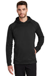 New Era NEA520 Mens Venue Fleece Hooded Sweatshirt Hoodie Black Front
