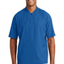 New Era Mens Cage Wind & Water Resistant 1/4 Zip Jacket - Royal Blue