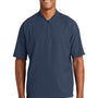 New Era Mens Cage Wind & Water Resistant 1/4 Zip Jacket - Navy Blue