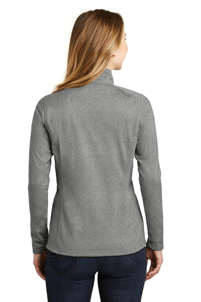 The North Face NF0A3LHC Womens Tech 1/4 Zip Fleece Jacket Heather Asphalt Grey Back