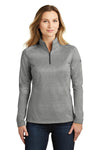 The North Face NF0A3LHC Womens Tech 1/4 Zip Fleece Jacket Heather Asphalt Grey Front