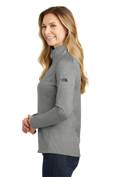 The North Face NF0A3LHC Womens Tech 1/4 Zip Fleece Jacket Heather Asphalt Grey Side