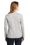 The North Face NF0A3LHC Womens Tech 1/4 Zip Fleece Jacket Heather Light Grey Back
