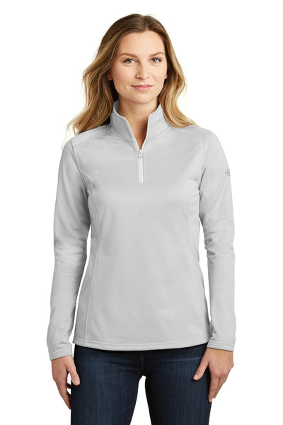 The North Face NF0A3LHC Womens Tech 1/4 Zip Fleece Jacket Heather Light Grey Front