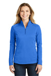 The North Face NF0A3LHC Womens Tech 1/4 Zip Fleece Jacket Monster Blue Front