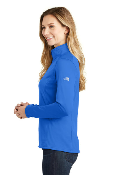 The North Face NF0A3LHC Womens Tech 1/4 Zip Fleece Jacket Monster Blue Side