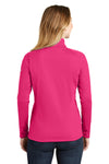 The North Face NF0A3LHC Womens Tech 1/4 Zip Fleece Jacket Petticoat Pink Back