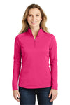 The North Face NF0A3LHC Womens Tech 1/4 Zip Fleece Jacket Petticoat Pink Front